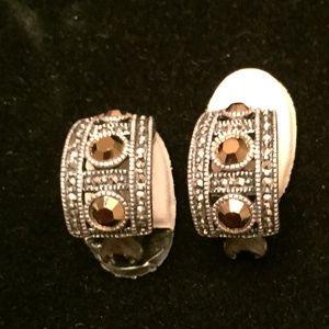Marcasite Clip-on Earrings